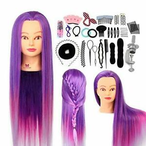 """26"""" Hairdressing Styling Head, 100% Synthetic Fibre Hair & Accessories"""