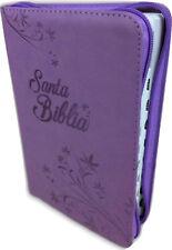 BIBLIA REINA VALERA 1960 LETRA GRANDE CON INDICE Y CIERRE IMITACION PIEL MORADO