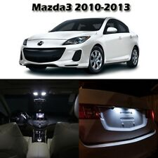 6 White Interior LED Light Package For Mazda 3 2010-2013 Sedan & Hatchback +Tool
