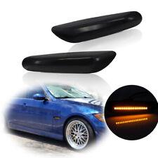 Direct Fit BMW 1 3 5 Series Smoked Lens Amber LED Front Side Marker Lights Kit