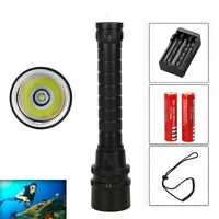 Waterproof 5000LM XML T6 LED Diving Scuba Flashlight Torch Light Battery Charger