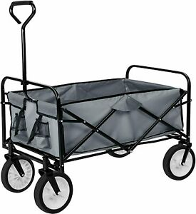 Collapsible Folding Wagon Cart Outdoor Camping Utility Garden Trolley Buggy