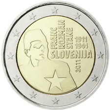 ESLOVENIA: 2 euros 2011Centenario del nacimiento de Franc Rozman S/C Slovenia