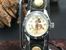 Vtg Bradley Mickey Mouse Diver Watch Swiss Made : Runs & Looks Good