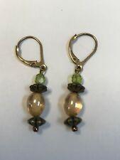 14K 14/20 Yellow Gold Dangle Earrings