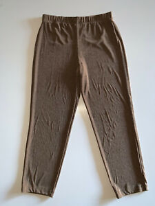 Travelers by Chico's Pull-On Stretch Waist Brown ankle Pants Size 1 = US Sz 8