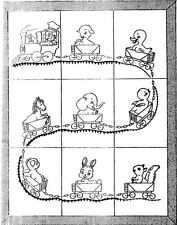 Train Railroad w Baby Animals crib quilt PATTERN 521 Repo Iron on Embroidery