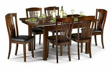 Julian Bowen Canterbury Extending Dining Table Set With 6 Chairs - Mahogany