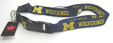 NCAA NWT KEYCHAIN LANYARD - MICHIGAN WOLVERINES  - LOGO WITH THICK NAME