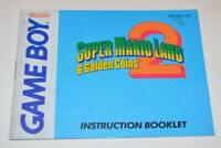 MANUAL ONLY Super Mario Land 2: 6 Golden Coins Original Nintendo Gameboy Booklet