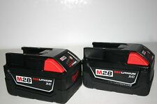 2 NEW Milwaukee 48-11-2830 M28 28V 28 Volt Red Lithium-Ion XC Batteries