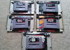 Super Nintendo boxed game lot SNES NCAA arcade bass combat racing FREE SHIPPING