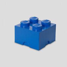 Lego L verschlossene Aufbewahrungsbox Möbel - 4 blau Ziegel