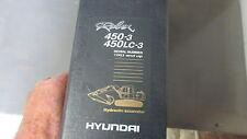 HYUNDAI 450-3, 450LC-3 EXCAVATOR Parts Manual #94E7-30031 W a Binder