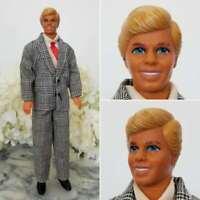 Mattel Vintage Ken Doll in Fashion Avenue Houndstooth Suit 1980s Superstar Era