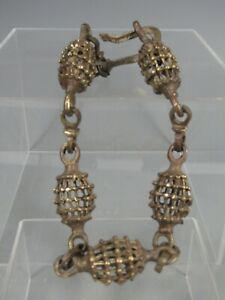Fine Old India Indian Heavy cast Brass Ladies Choker Necklace Mogul ca, 19th c.