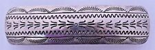 Southwest Stamped Sterling Silver Hair Barrette Clip Accessory Ponytail Holder