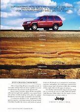 2000 2001 Jeep Grand Cherokee Top Original Advertisement Print Art Car Ad J655