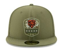 New Era 59Fifty Chicago Bears Salute to Service Size 7 1/4 Fitted Cap Hat Olive
