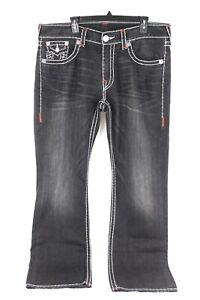 TRUE RELIGION Brand Section Straight Jeans for Men Size 38x34 RN #112790 Black