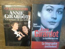 Lot de 2 livres Annie Girardot La mémoire de ma mère + Le tourbillon de la vie