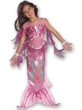Child Pink Little Mermaid Fancy Dress Costume Kids Girls Female BN
