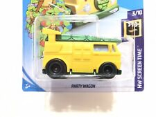Hot Wheels Teenage Mutant Ninja Turtles Party Wagon w/Real Riders SUPER CUSTOM