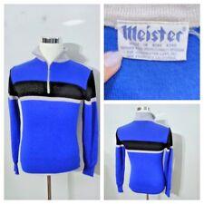 Meister Men's Heavy Ski Sweater Med 1970's Wool 1/4 Zip High Grade Inv#S8296