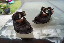 THINK! Damen Sommer Schuhe Sandalen Sandaletten leicht Gr.38 Leder Klett V #5k