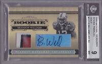 2006 National Treasures RC Auto Patch Gold #117 Brandon Williams #19/25 BGS 9