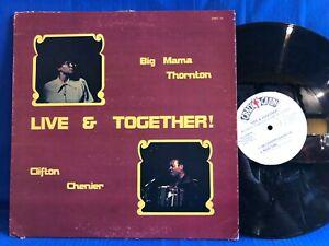 BIG MAMA THORNTON CHENIER LIVE 1104 CAJUN USA LP NEAR MINT