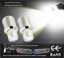 LED SMD Bau15s PY21W Xenon White Interior Dome Side Parking Lights Bulbs 12V 24V