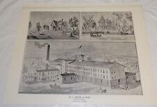1897 Antique Print//BIRGE & SON KNITTING MILL, BRISTOL, CONNECTICUT
