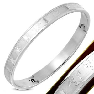 Bangle Hinged Stainless Surgical Steel Hypoallergenic Happy Musician