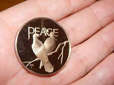 VINTAGE 1979 SOLID BRONZE PEACE COIN