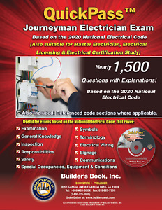 Journeyman Electrician QuickPass Exam Guide Based On The 2020 NEC