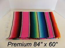 84 x 60 PINK Multi Color Large Sarape Mexican Saltillo Serape Throw Blanket