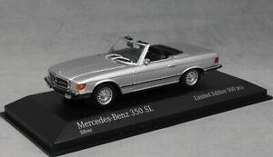Minichamps Mercedes-Benz 350SL in Silver Metallic 1974 943033433 1/43NEW Ltd 500