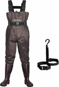 Dark Lightning Fly Fishing Waders for Men and Women with Boots High Chest Wader