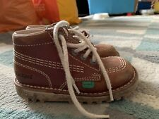 Boys Kickers Brown Boots Size 9