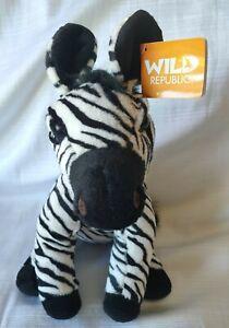 Zebra Stuffed Animal Soft Plush Toy Wild Republic Brand New