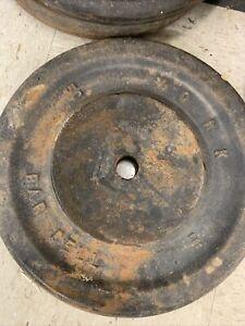 VTG Cast Iron YORK 50LB Barbell Plate