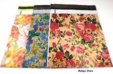 30 MIX 3 FLOWERS DESIGNER 10 x 13 MAILER POLY MAILING SHIPPING BAGS Des: 2,7,18