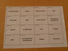 Go Ahead 5 - 10 Karteikarten / Vokabeln Realschule - Verkauf pro Klasse