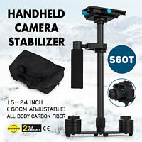"S60T 24"" Handheld Stabilizer Carbon Fiber SteadyCam for Canon Camera DSLR"