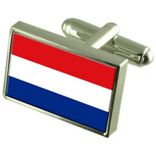 Holland Flag Cufflinks With Select Gifts Pouch