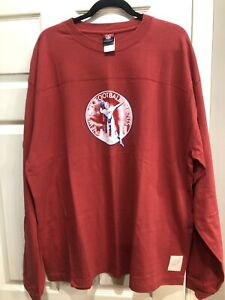 NWOT Red Reebok NFL Classic NY Giants 1950 Long Sleeved Shirt Size 2XL