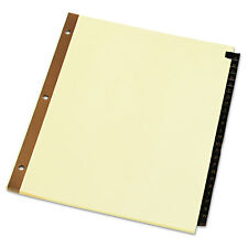 UNIVERSAL Leather-Look Mylar Tab Dividers 25 Alphabet Tabs Letter Black/Gold Set
