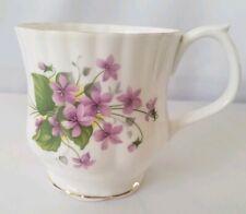 ROYAL ALBERT Mug Bone China England Purple Violet  Floral Pattern