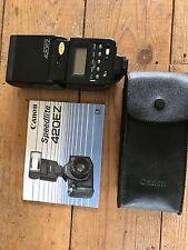 Canon Speedlite 420EZ Con Funda Y Manual
